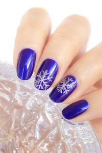 easy snowflake nail art - SoNailicious