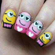 smitten minions nails nailstorming