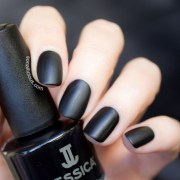 black matte nails - sonailicious