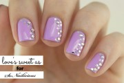 sideways french spring nail