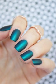 matte emerald nails mint polish