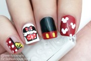 cute minnie mouse nails