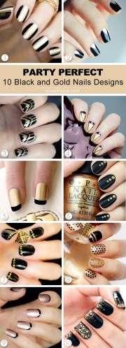 party perfect black and gold