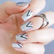 shades of grey nail art - tutorial