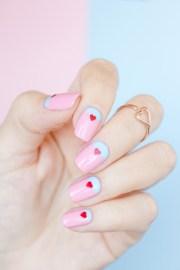 2 easy valentine's day nail ideas