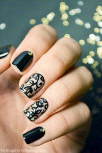 Black Lace Nail Art Tutorial