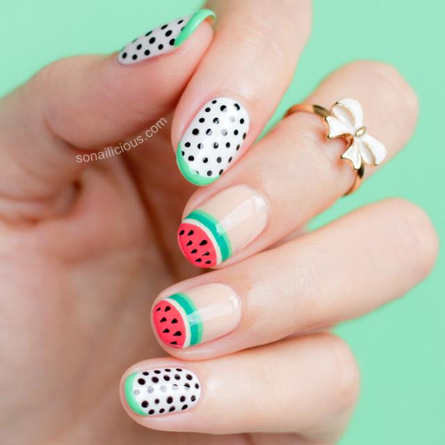 Watermelon Nail Art By Sonailicious