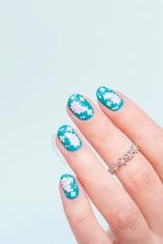 paisley nail art short nails