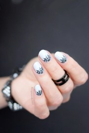 moon spider web nails