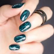 green marble nails mani monday
