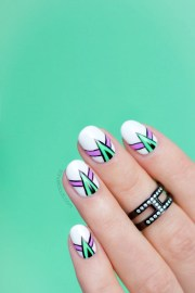 spikes and lines abstract nail