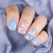 incredible pink and blue nails