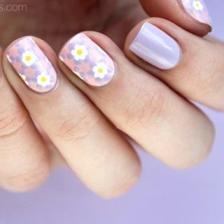 Tutorial Pastel Mosaic Easter Nail Art