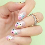 negative space floral nail art