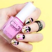 tiny monster fendi nail art nails