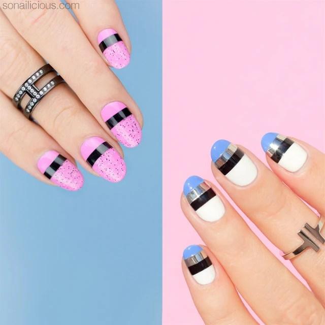 2 Easy Nail Designs Striping Tape Art