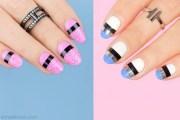 2 mixed media easy nail design
