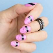 striking pink nails 2 easy nail