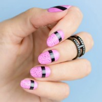 Striking Pink Nails