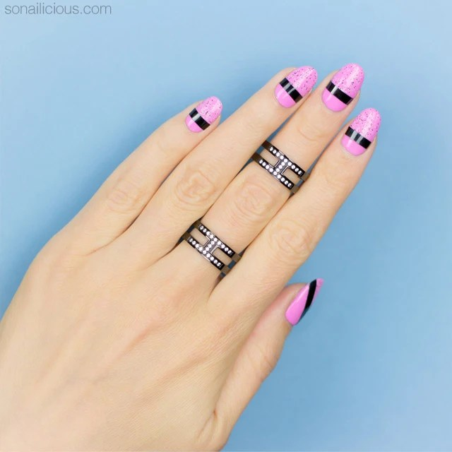 Easy Nail Design Striping Tape Art