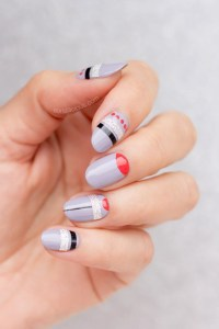Silver Grey Nail Design with Mavala First Class Collection