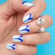 elegant nails pretty blue