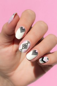 How To Do Aztec Nails in 5 Minutes [Seriously Easy Nail Art]