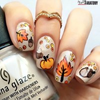 Autumn Nail art by @nailsanatomy - SoNailicious