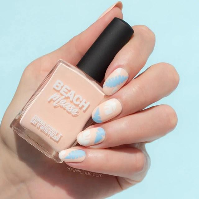 beach please, peach nails