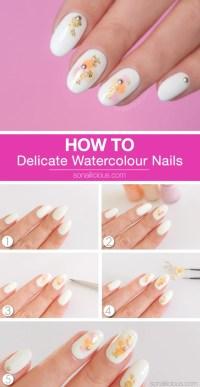 Tutorial: Delicate Watercolor Nails