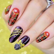 elegant christmas nail design