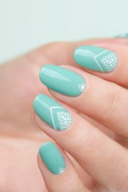 neapolitan lace nail art with chanel