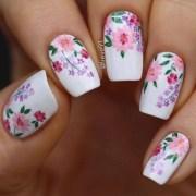spring flower nail design lieve91
