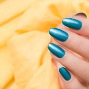 metallic blue nails - sonailicious