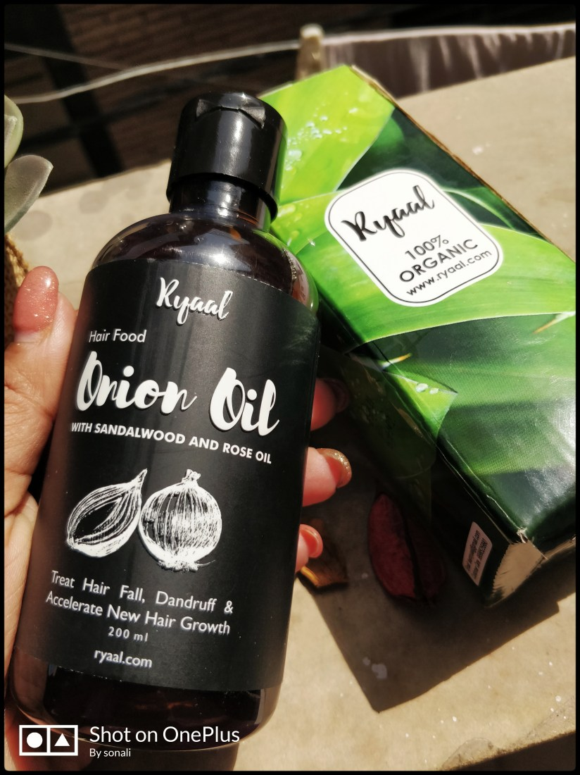 ryaal onion oil with sandalwood