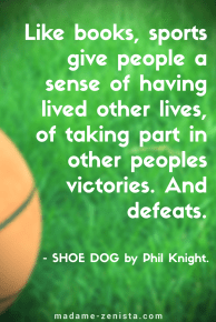 Like books, sports give people a sense of having lived other lives, of taking part in other people's victories. And defeats .Inspiring Quote by Phil Knight, creator of Nike Shoes and Apparel, Memoir Shoe Dog