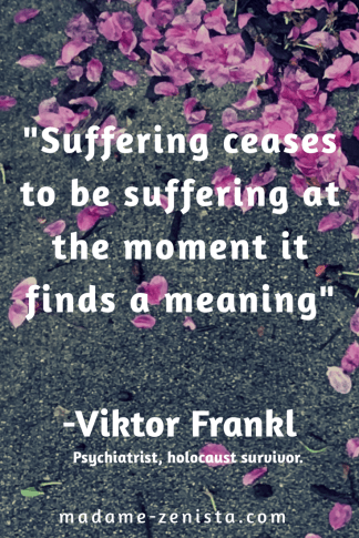 Suffering ceases to be suffering at the moment it finds meaning. Quote by Viktor Frankl. Psychiatrist and holocaust survivor. Inspiring and motivating. 'Option B: Facing Adversity, Building Resilience, And Finding Joy' Book written by Sheryl Sandberg and Adam Grant.