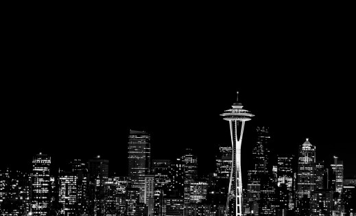 Seattle Downtown at Night from Queen Anne, Seattle, WA