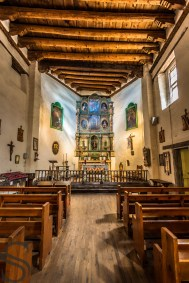 Inside of the San Miguel Chapel, Santa Fe, NM - Oldest Church In USA