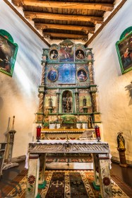 Inside of the San Miguel Chapel - Oldest Church In USA
