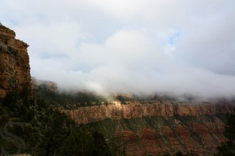 Clouds covering the Grand Canyon - as seen from the Switchbacks