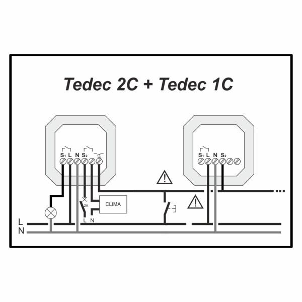 conexionado TEDEC 2C y 1C