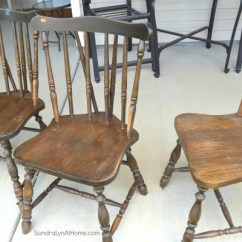 Diy Painted Windsor Chairs Modified Chair Stand Test Chalk Paint Recipe Sondra Lyn At Home W