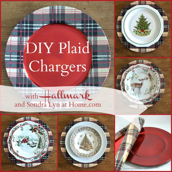DIY Plaid Chargers - with Hallmark and Sondra Lyn at Home