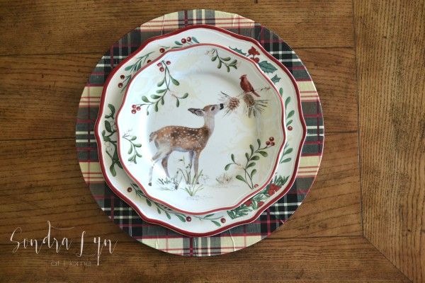 Plaid Charger with BHG Deer Christmas Salad Plate - Sondra Lyn at Home