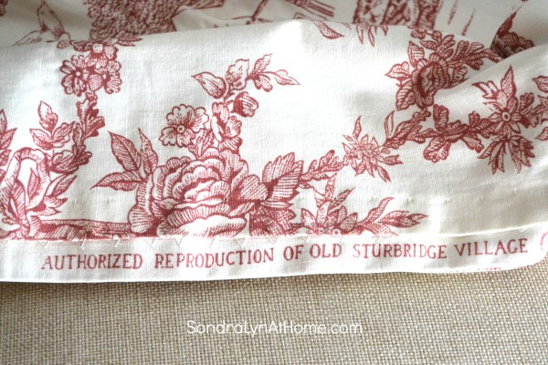 Merry and Toile Tablescape - Old Sturbridge Village historical reproduction fabric - Sondra Lyn at Home