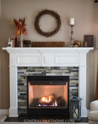 Easy Peel and Stick Stone Fireplace Surround