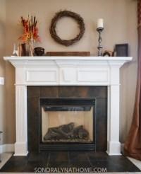 Easy Peel and Stick Stone Fireplace Surround - Sondra Lyn ...