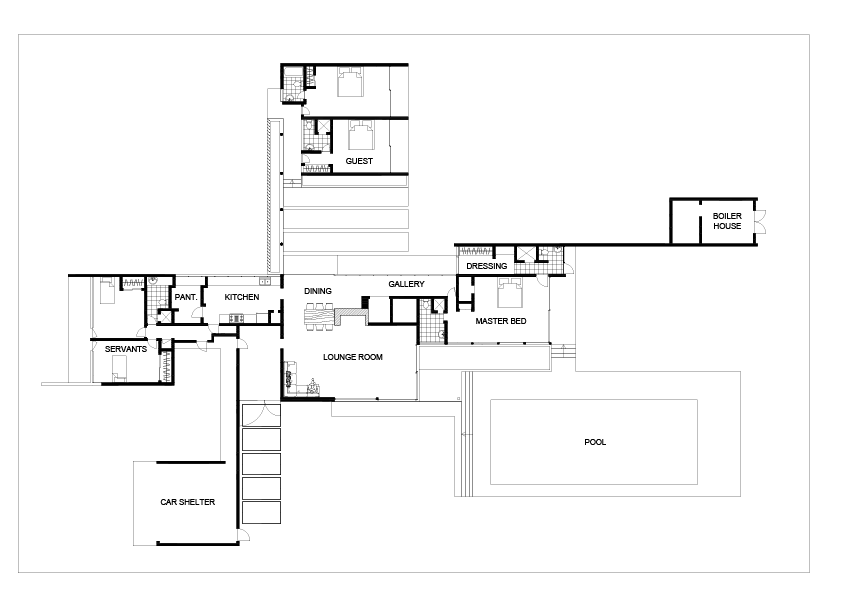 Richard Neutra Kaufmann House Plans