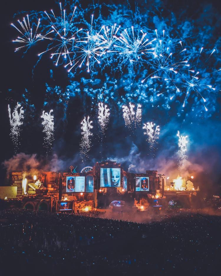 Blue Fireworks, by Daniels Joffe